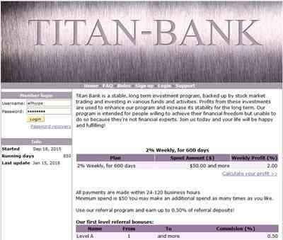 TITAN Bank screenshot