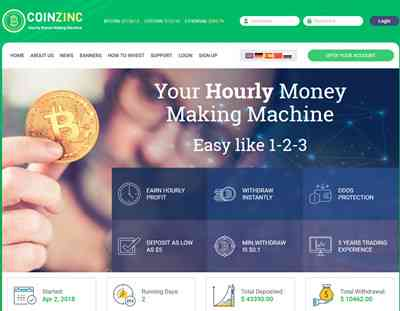 CoinZinc LTD. screenshot