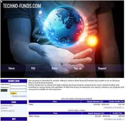 Techno-Funds screenshot