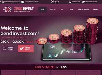 Zend Invest Ltd screenshot