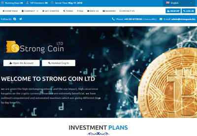 Strongcoin.BIZ screenshot