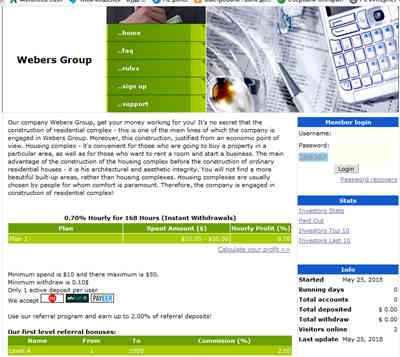 Webers Group screenshot