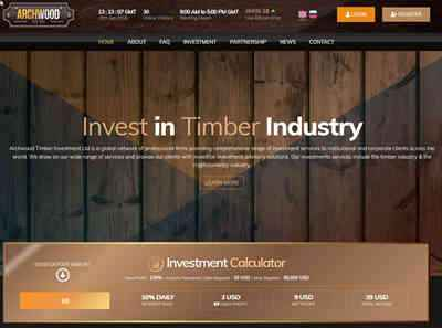 Archwood Timber Investment Ltd. screenshot