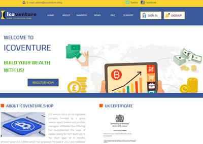ICO Venture Ltd screenshot