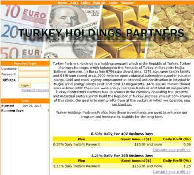 Turkey Holdings Partners screenshot