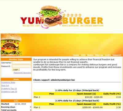 Yumburger.fun screenshot