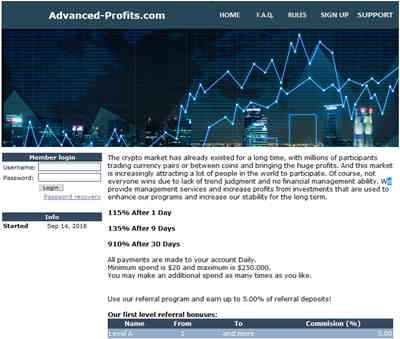 Advanced Profits screenshot