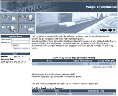 Venga-Investments screenshot