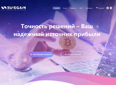 Buisgain Investment Platform screenshot