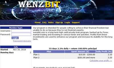 WENZBIT screenshot