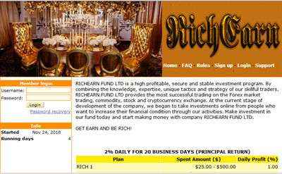 RICHEARN FUND LTD screenshot