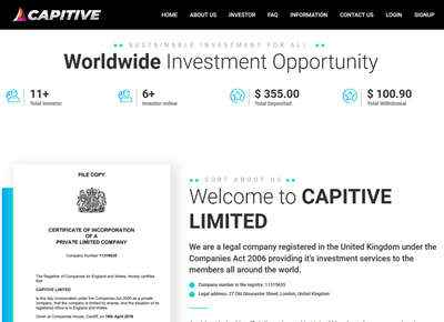 CAPITIVE LIMITED - capitive.biz 8065
