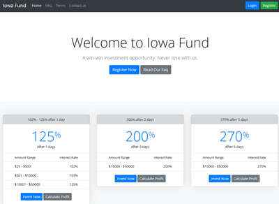 Iowa Fund screenshot