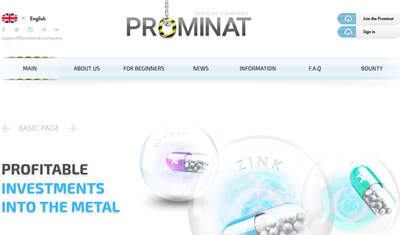 PROMINAT COMPANY screenshot