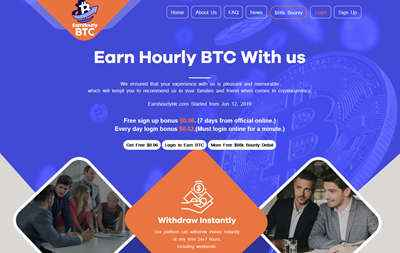 Earn Hourly Btc LTD screenshot