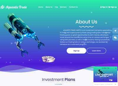 Aquantis Trade Limited screenshot