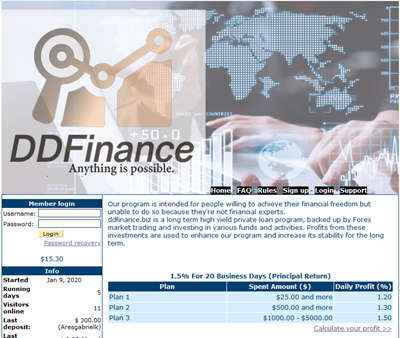 DDFinance screenshot
