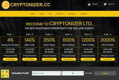 Cryptonizer screenshot
