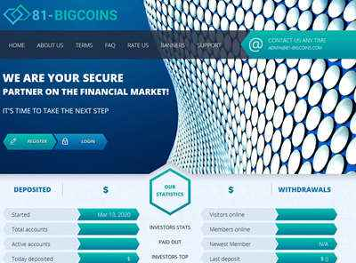 81bigcoins LTD screenshot