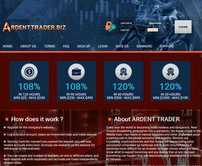 ARDENT TRADER LTD screenshot