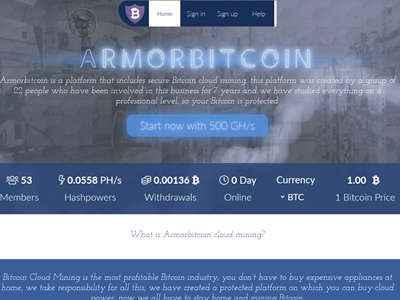 Armorbitcoin screenshot