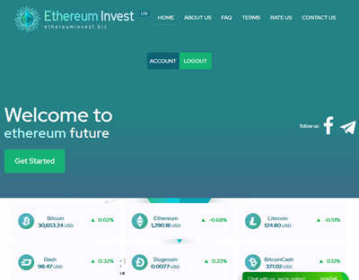 Ethereuminvest screenshot