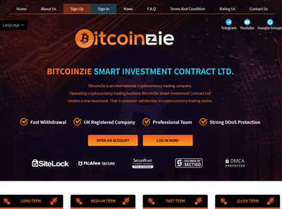 BITCOINZIE SMART INVESTMENT screenshot