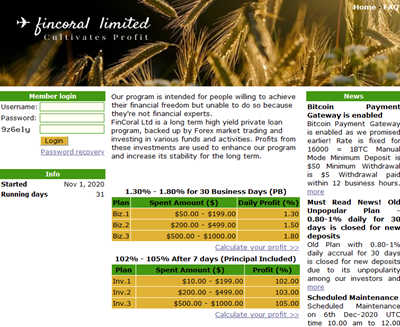Fincoral Ltd screenshot