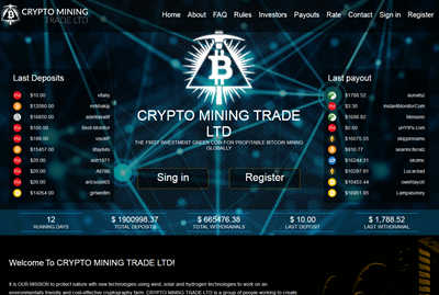 CRYPTO MINING TRADE LTD screenshot